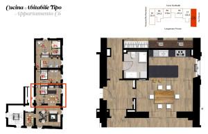 Cucina abitabile tipo - Appartamento C6